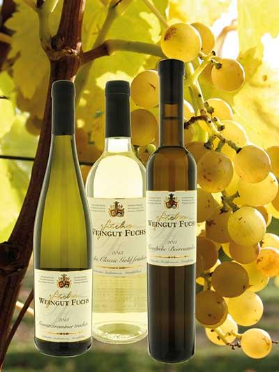 Weingut Fuchs provides a multifaceted choice of dry and sweet white wines.