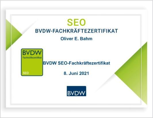 BVDW SEO-Fachzertifikat