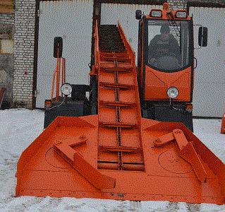 Снегопогрузчик лаповый предназначен для погрузки свежевыпавшего и уплотненного снега и скола льда.