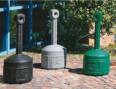 Plastic safety pedestal ashtray 15L