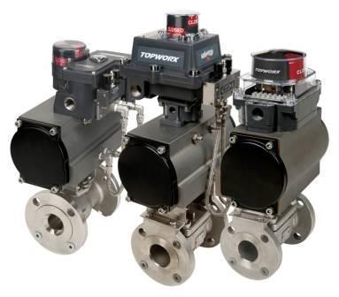 TopWorx klepstandsignaleringen voor lineaire en roterende kleppen - Solutions de commande de vannes et de détection de position de vannes de TopWorx - valve position monitors and switchboxes.