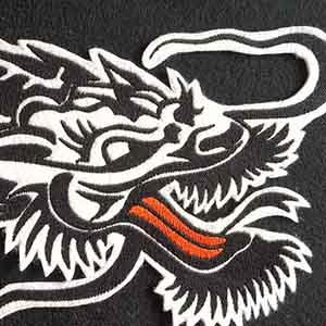 The Dragon, for leather flight jacket.