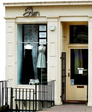 Image of the exterior of Eden, Stockbridge Fashion Boutique