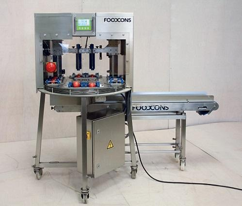Die Rundlaufstanze F3000 ist die schnellste Stanze von uns. Bis zu 3600 Produkte pro Stunde können geschnitten werden. Es können sowohl Scheiben als auch Ecken geschnitten werden.