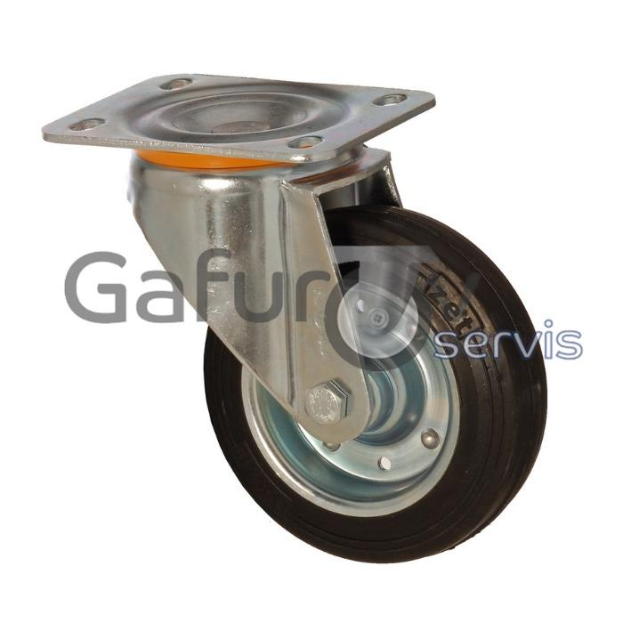 Metal wheel for waste container