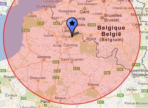 Nous intervenons sur tout le grand nord de la france et la belgique : Nord (59), Pas de Calais (62), Somme (80), Aisne (02), Oise (60), Marne (51) Ardennes (08) et Belgique.