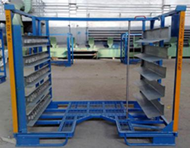 Industrial Warehouse Storage Auto Parts Handling.