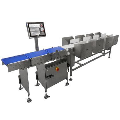Equipos automáticos de alta velocidad que agrupa productos en función de rangos de peso definidos.