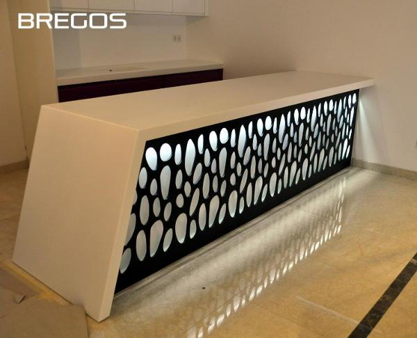 Finest solid surface countertops made of Hanex, Corian, Hi-Macs, Staron or Kerrock