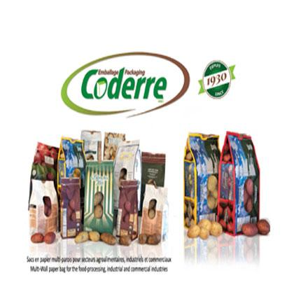 Coderre Packaging Inc. manufactures paper potato bags available from 1,5 to 50 lbs. As many of our products, our paper potato bags are accredited by the Canadian Food Inspection Agency.