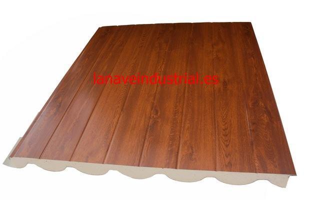 panel sandwich teja madera alistonada
