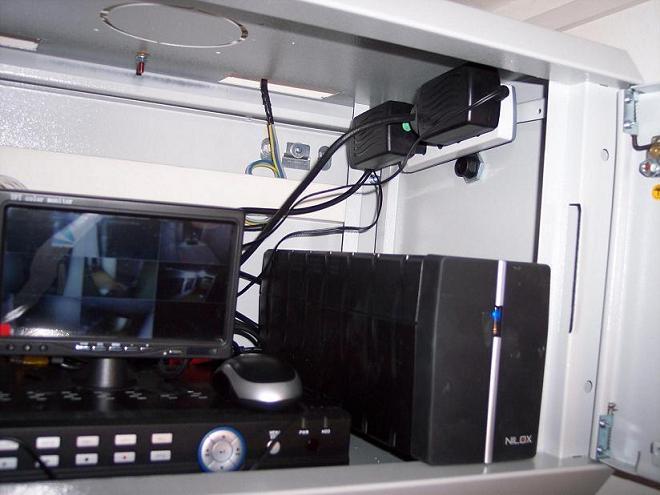 Rack 19' con apparati per videosorveglianza