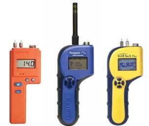 Professional portable moisture meters for moisture measurement in wood, building materials, flooring, paper, leather, agricultural products such as hay, grains, cotton and many other materials.