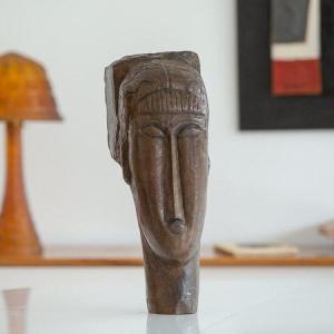 Amedeo Modigliani - Tête de jeune fille à la Frange