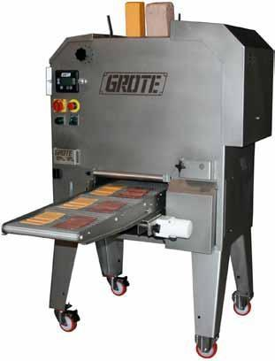 Suitable for a variety of slicing applications including bulk slicing, stacking and shingling into portions.