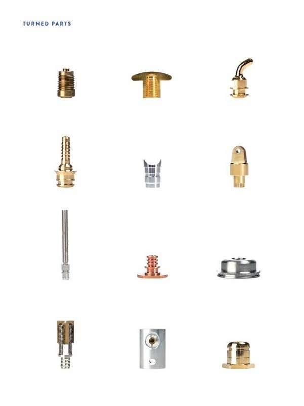 CNC Turned Parts | Swiss-Type Turned Parts | Conventional Turned Parts | Fastening Elements | Threaded Inserts | Axes