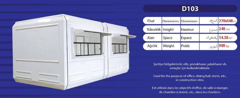 Sandwich panel fiberglass walls are used in polyester cabins, which make them strong enough and provides insulation(temperature).