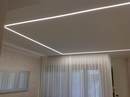 linee di luce sala pranzo