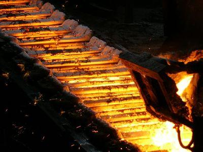 the production process casting pig iron ingots