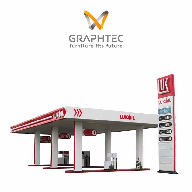 Gas Stations Signage and facade Fitting