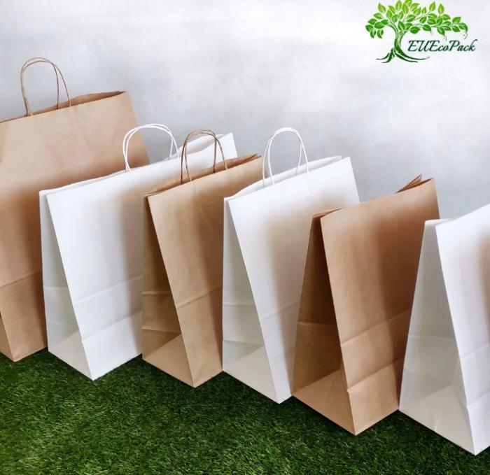 Paper bags kraft/white