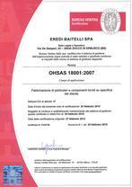 Eredi Baitelli ha ricevuto dal 2000 il riconoscimento della certificazione internazionale UNI EN ISO 9001