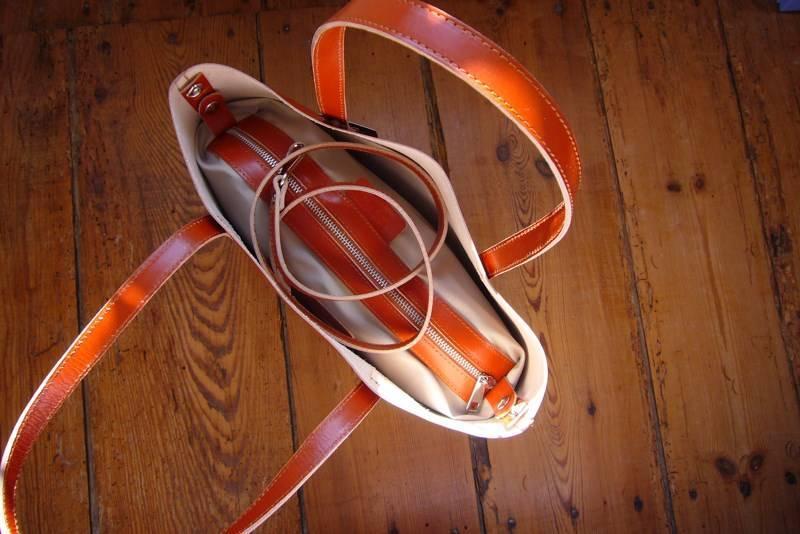 Cabs en cuir orange made in Italie par Diva