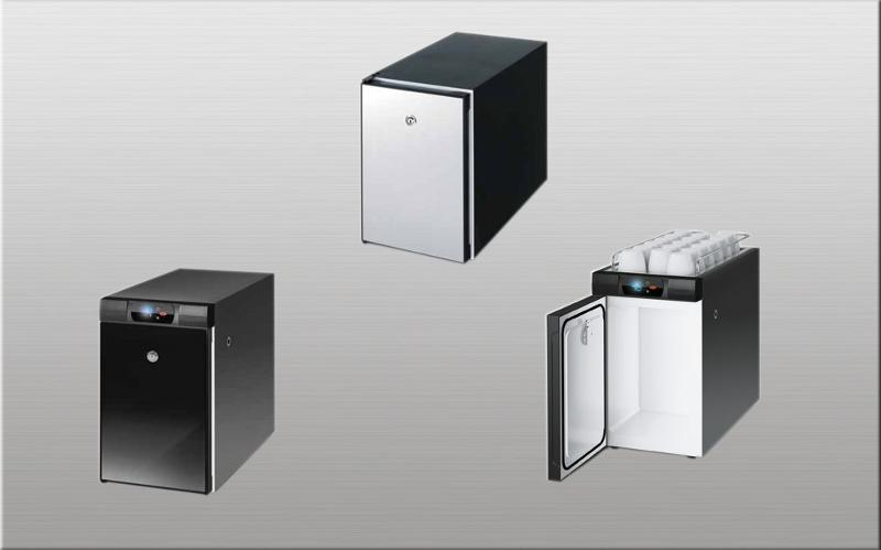 milk cooler with hermetic compressor for beside coffee machines