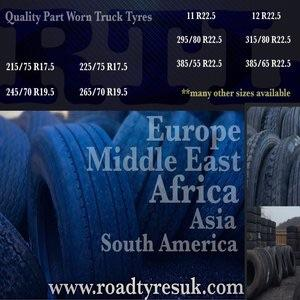 Quality used truck tyres.