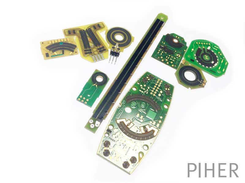 Printed circuit resistors.