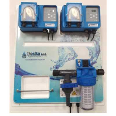 control panel with peristaltic dosing pumps, for reading and dosage of pH and oxigen