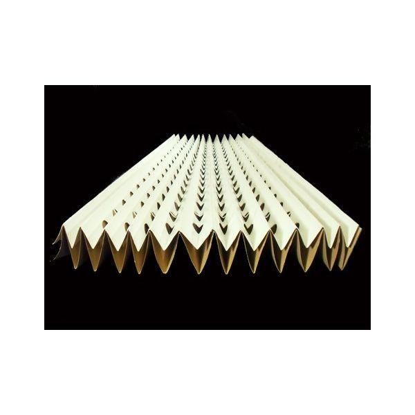 Cortina filtro con doppio strato di cartoncino Kraft plissettato, ad alta resistenza. Consigliato per la filtrazione primaria di over-spray di verniciatura nelle cabine a spruzzo.