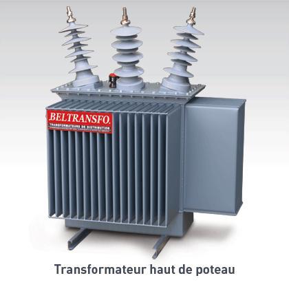 Transformateur haut de poteau Bornes en composite en V 36 kV