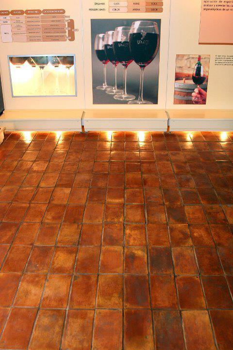 Baldosas de barro cocido hechas a mano rectangulares, diferentes tamaños; 15x30x2, 22x36x2, 15x23x2, 25x12x2. Parefeuille