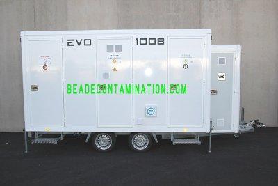 L'unité mobile de décontamination EVO 1008 est le système de décontamination le plus avancé du marché . Détails sur notre site internet www.beadecontamination.com