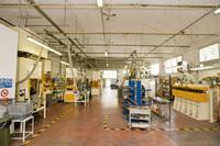 Interno fabbrica di produzione