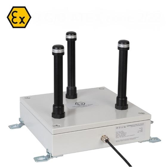 ATEX access point including antennas, suitable for zone 2 and 22 hazardous area.
