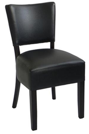 Chaise pour restaurant. Chaise  en bois, chaise rembourrée et habillée en simili cuir. Chaise restaurant, chaise pour bar, chaise en bois