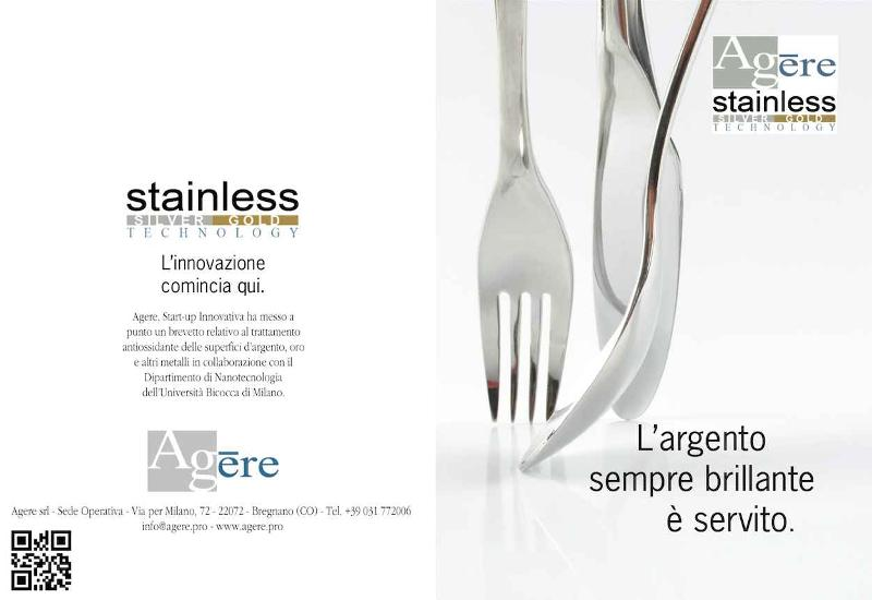 Agere Srl - Posate Argento Silver - Oro Gold Host in Milano Fiera Ho.Re.Ca