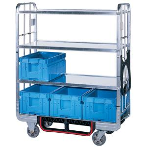 "A ""must have"" for every production hall. These picking trolleys transport KLT boxes. Available from the standard model to the SAFE design."