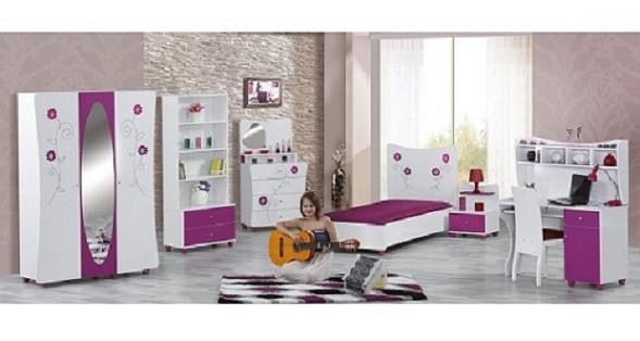 Modern lines with creative design. Young room set includes;