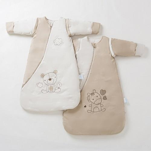 Baby and children Sleeping bags. Woven fabric and knitted fabrics. Interlock fabric, Single jersey fabric, bamboo fabric, Plush fabrics products.