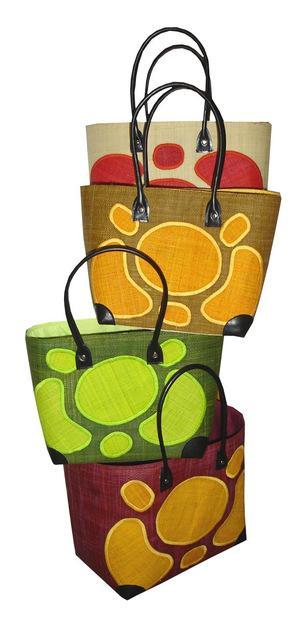 Cabas paille fantaisie, coloris et tailles au choix - Idéal plage, courses .... La Vannerie d'Aujourd'hui