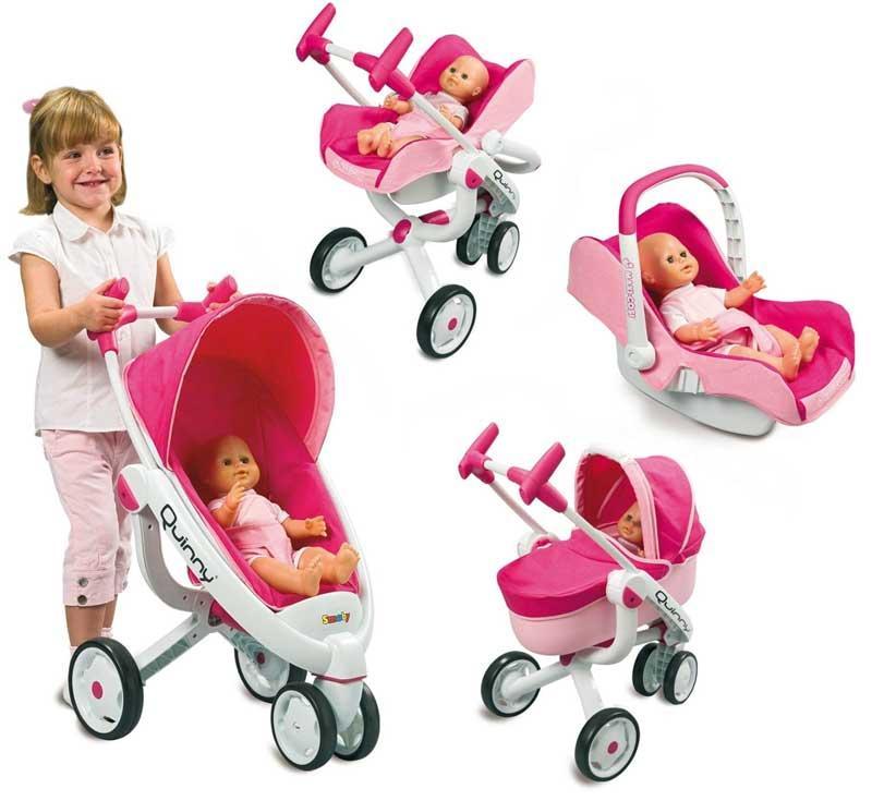 Wózek dla lalek Quinny Smoby Maxi Cosi, Bebe confort, Gondola, Fotelik,