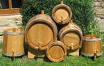 Oak barrels set small barrels 1 L, 2,5 L, 5 L, 7,5 L, 10 L, 25 L PEPEL-CO master coopers from Croatia Slavonia Đurđenovac