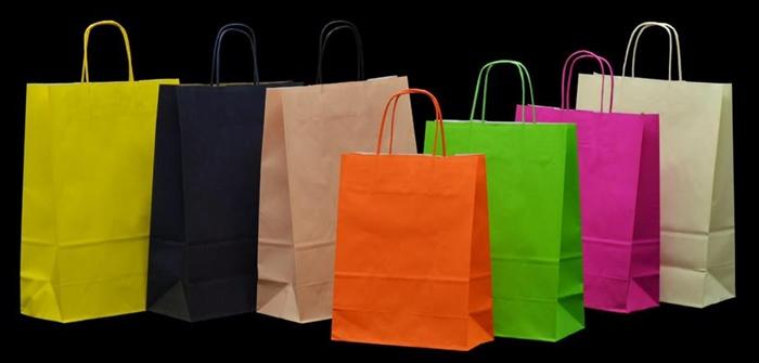 Production of luxury paper, ecological and handmade bags in many styles and colours