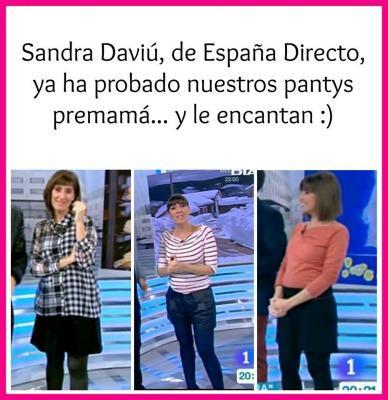 Diversas presentadoras de TV, Sandra Daviú de TVE en este caso, visten nuestras pantys y leggins durante su embarazo. Póngase en contacto con nosotros y le enviarmos nuestro catálogo completo.
