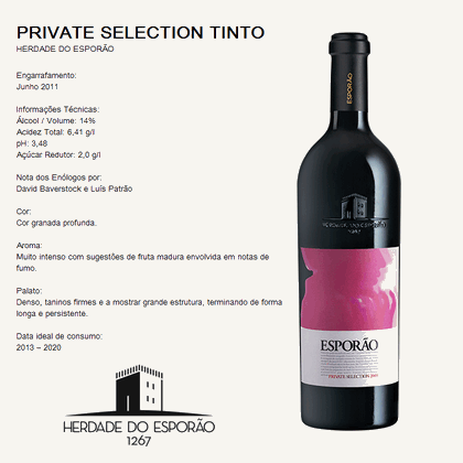 Herdade do Esporão - PRIVATE SELECTION TINTO