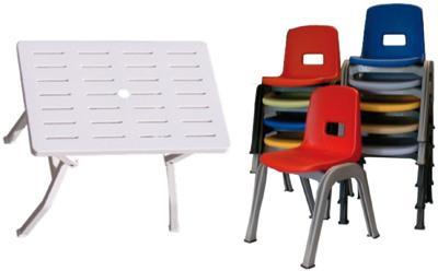sedie e tavoli in plastica per scuole,asili,comunità  pmc