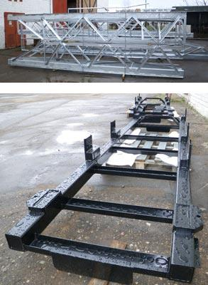 Manufacturing of steel structures. Welded constructions, frames. Hot deep galvanization, painting.